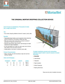 MortarNet® with Insect Barrier™