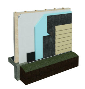 DriPlane wood stud wall with cement lap siding