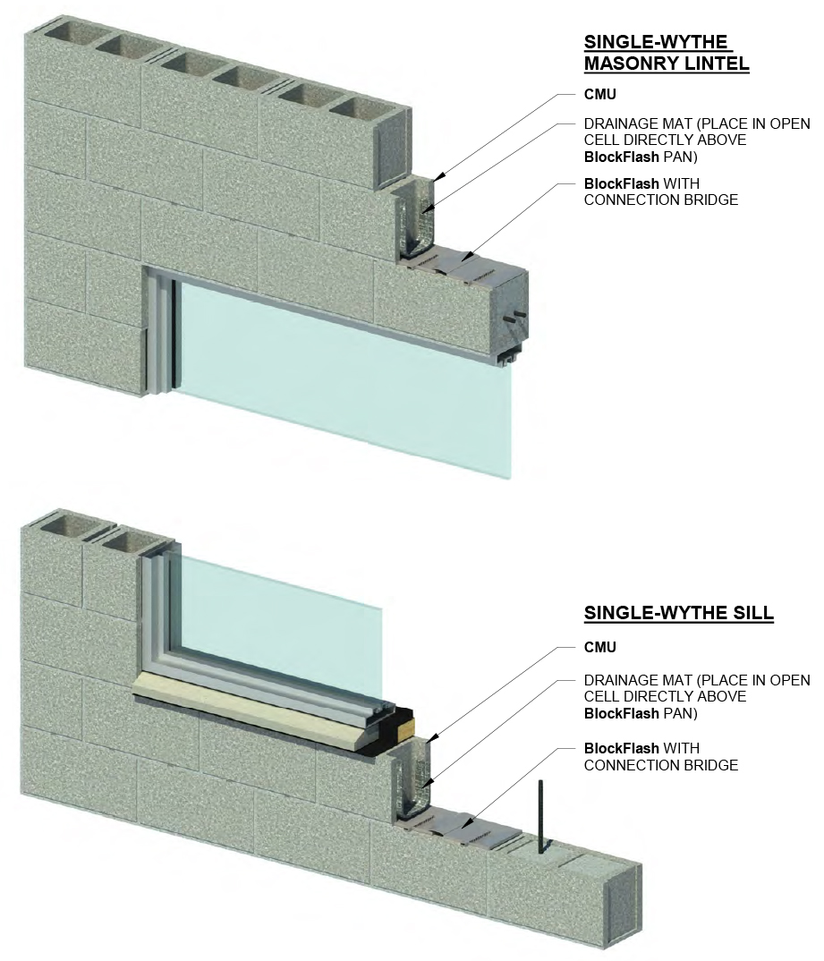 blockflash lintel sill