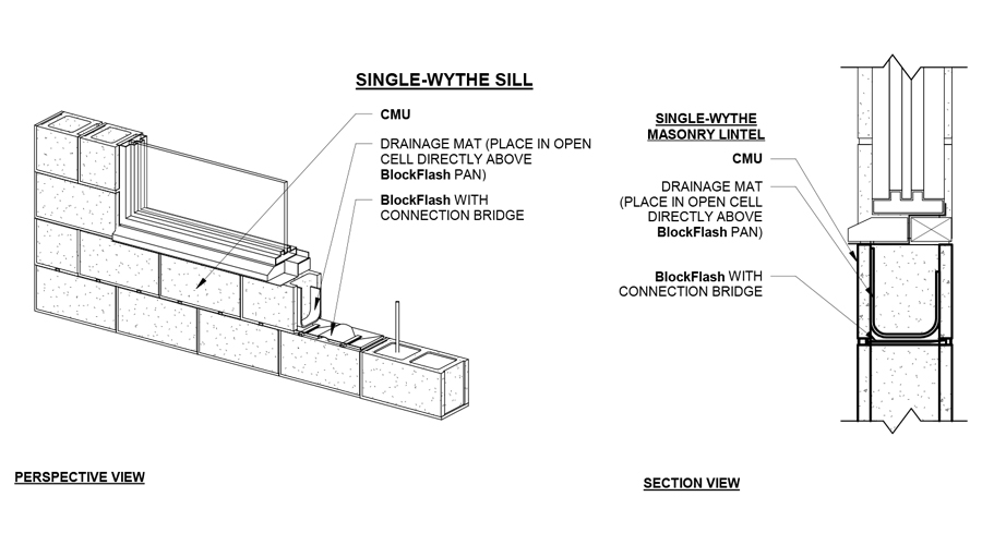 BlockFlash - Sill Perspective/Section Detail