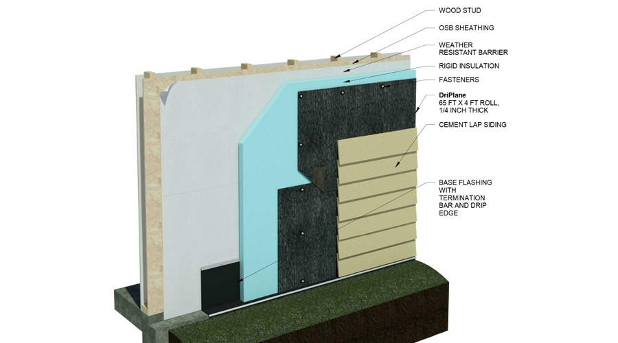 DriPlane - Wood Stud, Insulation, Lap Siding
